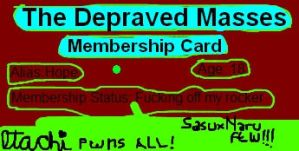 My TDM Membership card by LostTotheHoping