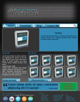 bluish web design layout by hitesh19872419