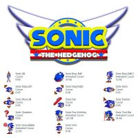 Sonic The HedgeHog Cursor Set by Superman8193