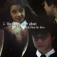 101 Reasons to Ship Harry and Hermione 5 by Lennves