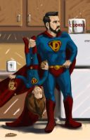 RGD Super Dad and Daughter: COOOKIES! Final by cluis