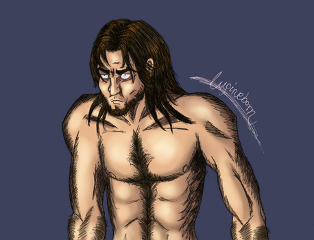 Werewolf OC doodle - human form by Lupineborn