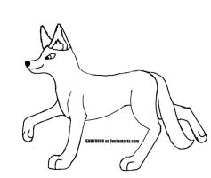 Wolf lineart by JENNY8888