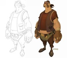 Biker_coloured by Kravenous