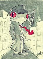 Detective Frog by Jmc117