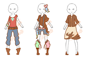 Outfit adopts! 1/3 OPEN! by Samas-adopts
