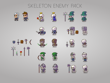 Skeleton enemy pack by KirillKoshurnikov