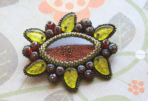 red currant brooch by a1as