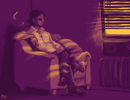 The Wolf Among Us - Bibgy Wolf and Colin by pseudoMim