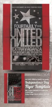 United 4th July Flyer Preview by mrkra