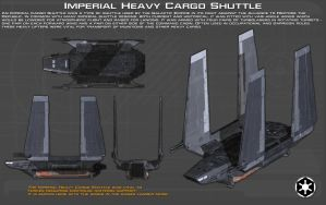 Imperial Heavy Cargo Shuttle ortho [1][New] by unusualsuspex