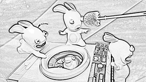 Rabbids - Pencil Drawing 1 by naspee