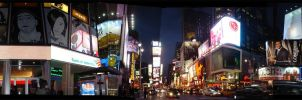 Lost in Times Square by onksy