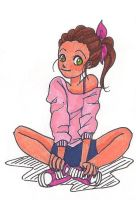 girl with pink sweatshirt by ThEsIlKe