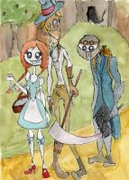 Tim burton style OZ by icantstopdrawing