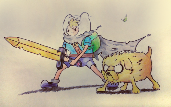 Adventure Time - Finn the hero and jake the brave by MrScontrino