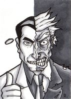 Two Face Sketchcard by TheRigger