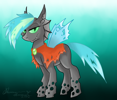 MLP OC: Neptrys the Changeling by Wyndon-Torque