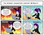 Internet: the commentor's viewpoint VS Reality by SailorA