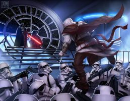 Assassin's creed , Star Wars crossover fan art by JustineTutubi