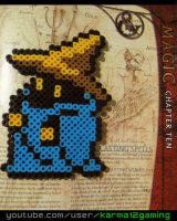 Final Fantasy Black Mage [Perler Art] by karma12gaming