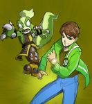 Ben10 and stinkbomb by Sktchman