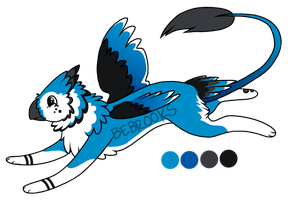 Blue Jay Gryphon Adoptable! [CLOSED] by BROOKSlE