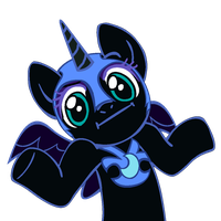 Shrugpony Nightmare Moon by MoongazePonies