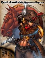Applejack: The Gunslinger by mastafuu