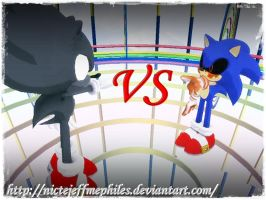 Dark Sonic vs sonic.exe by NicteJeffMephiles