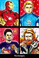 Avenger Cards by LadyDeadPooly