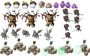 Maplestory monster sprites 3 by mucouy42