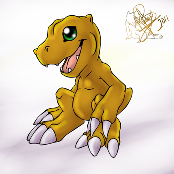 Its Agumon by WolfRoxy
