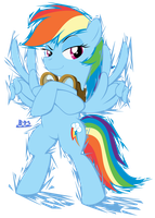 PonyKart - Rainbow Dash (flash drawn) by Blue-Paint-Sea