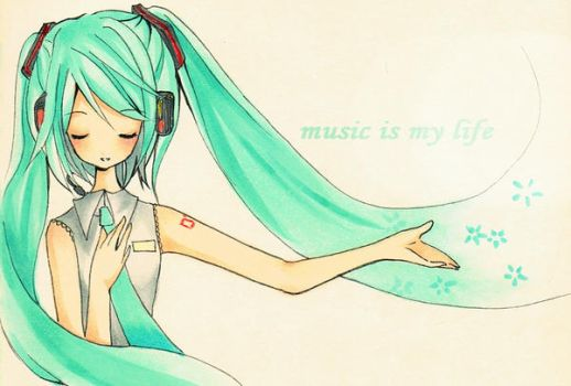 Miku Hatsune: Music Is My Life by carrot-milk