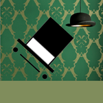 Toby the British: Grey Olive-Green Wallpaper by DeverexDrawer