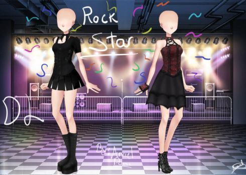 Rock stars gothic style: Pack Sucrette by Abixiel