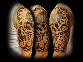 Another Polynesian-styled half sleeve by Vinoshitto