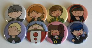 Team Persona 4 Button Set by ThePockyGirl