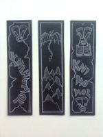 bookmarks in black 2 by Fallen-from-stars