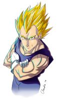 DBZ-Random Vegeta pic by Goldman-Karee