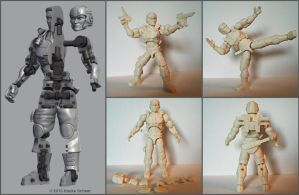 Construction 3D printed action figure 2.0 by hauke3000