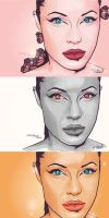 Angelina Jolie in colors by Garaguchy