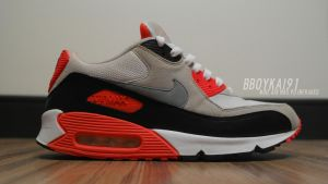 Nike Air Max 90 Infrared 4 by BBoyKai91