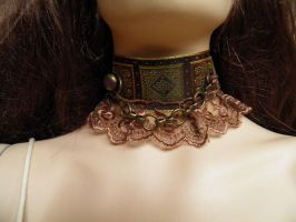 Steampunk-Victorian choker PCCH18 by JanuaryGuest