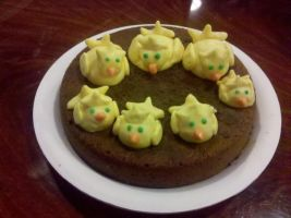 Chocobo Cake Pic 1 by LightningGale