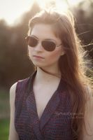 Vintage Sunglasses Lens Flare by Keizie