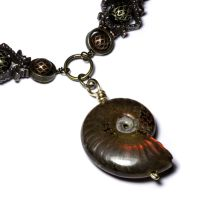 Steampunk fossil necklace 2 by CatherinetteRings