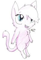 Zoe the adorable mew by HollyBjeam