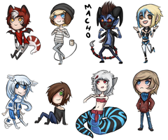 Christmas Exchange Chibis 2 by strxbe